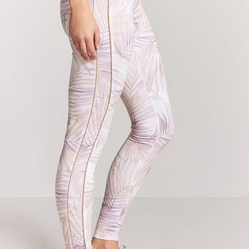 Active Leaf Print Leggings