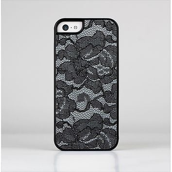 The Black Lace Texture Skin-Sert Case for the Apple iPhone 5c
