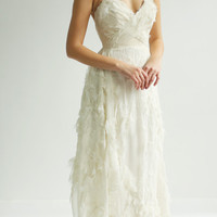 Sample Sale - unique ivory sweetheart gown with texture
