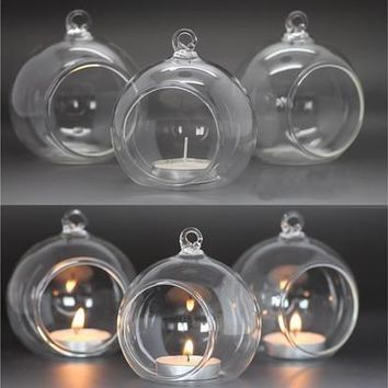Clear Holder Candlestick Party Wedding Decoration Glass Candle Light [7981681607]