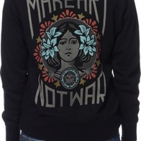 Obey Make Art Not War Black Zip Up Hoodie