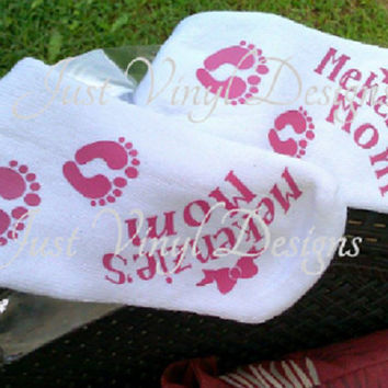 Personalized womens, Labor & Delivery Socks, Gift for mom, Focus Quote