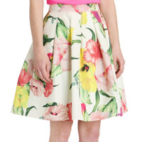Floral print skirt - Cream | Skirts | Ted Baker UK
