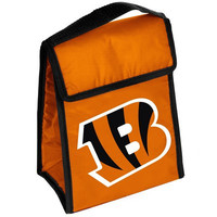 Cincinnati Bengals Official NFL Big Logo Velcro Lunch Bag