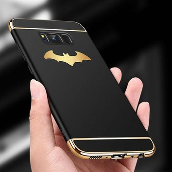 Batman Dark Knight gift Christmas Luxury 3 in 1 Plating PC Case For Samsung Galaxy Note 8 S9 S8 Plus S7 edge iPhone X 8 7 6S Plus Cover 3D Batman Shockproof Cases AT_71_6