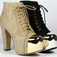 Lace up High Heel Platform Fashion Ankle Boot Bootie SP. 98 Yelp