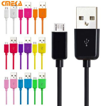 1M 3ft Colorful Mobile Phone Cables Micro Usb Cable Durable Charger For Samsung Galaxy S3 S4 S5 For HTC Nokia Sony