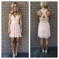 Blush Pink Marilyn Dress