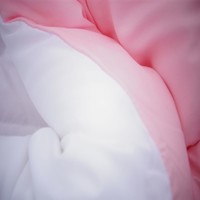 White/Calm Pink Reversible College Comforter - Twin XL Dorm Bedding for Girls