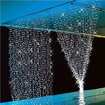 3x3/6x3m led New Year Christmas Garlands LED Wedding Fairy String light Christmas 300 led fairy Light garden party Curtain Decor