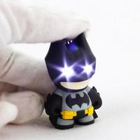 New arrive Batman keychain Led keychain with sound, Flashlight keychain figure keyrings Cool batman keychain [8833447628]