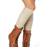 Marled Sweater Over-The-Knee Socks