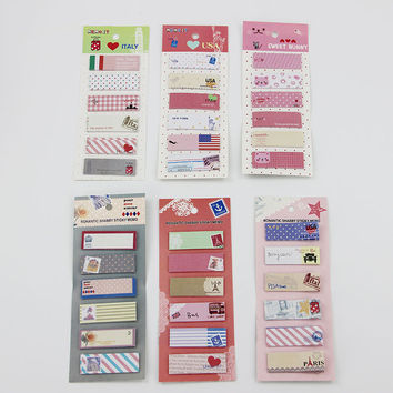 1pcs lot Creative Stationery Animal Romantic Memo Pad Paper Sticker Post It Notepad Gift Stationerys Escolar