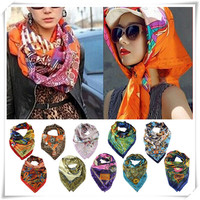 Newly Design New Fashion Women Big Size 90x90cm Silk Square Scarf High Quality Shawl May18