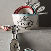 Molly Hatch Crowned Leaf Measuring Cups in Multi Size: Measuring