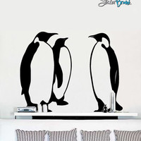 Vinyl Wall Decal Sticker Emperor Penguins #366