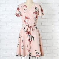 Elisa Floral Wrap Dress-FINAL SALE