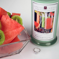 Watermelon Kiwi Jewelry Candles - Limited Sizes & Jewels!