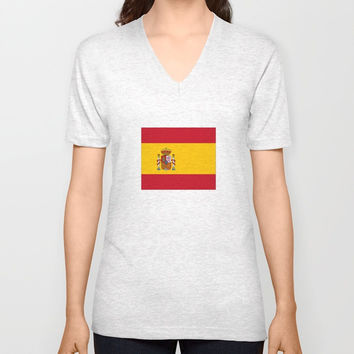 Flag of spain Unisex V-Neck by oldking