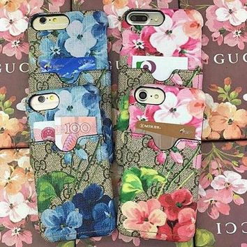 Perfect GUCCI Fashion Print Embroidery iPhone Phone Cover Case For iphone 6 6s 6plus 6s-plus 7 7plus