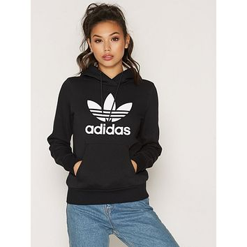 Adidas Women's Fashion Winter Classic Black Pullover Hoodie