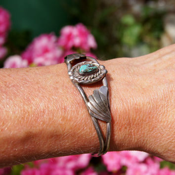 Navajo Turquoise Silver Cuff Bracelet