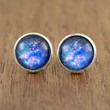 Galaxy Fake Plugs : Bright Universe Stud Earrings, Vintage, Bohemian, Boho Chic, Made in Canada by ARTISANTREE on ETSY