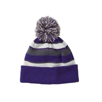 Holloway 223835?comeback Beanie   Purple White Graphite