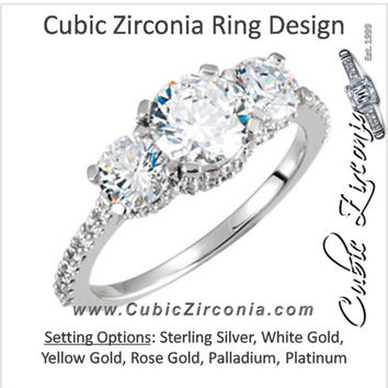 Cubic Zirconia Engagement Ring- The Sylvie