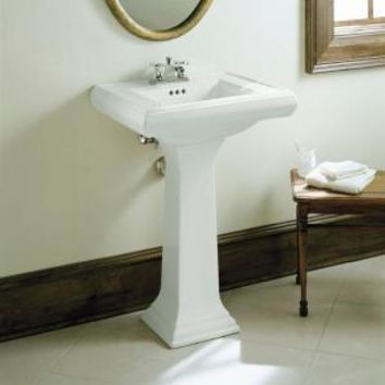 KOHLER, Memoirs Pedestal Combo Bathroom Sink in White, K-2238-4-0 at The Home Depot - Mobile