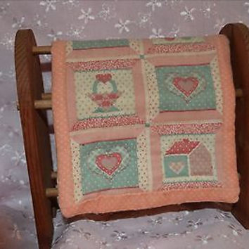 Vintage Wood Blanket Rack with Quilt Perfect for your Antique  Doll