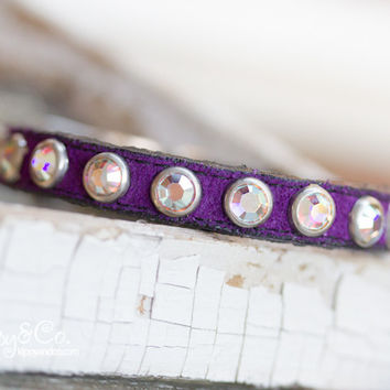 Tiny Purple Crystal Collar