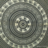 Black Elephant Mandala Tapestry, Mandala Wall Tapestry, Hippie Wall Tapestry, Elephant Mandala Wall Hanging, Indian Wall hanging