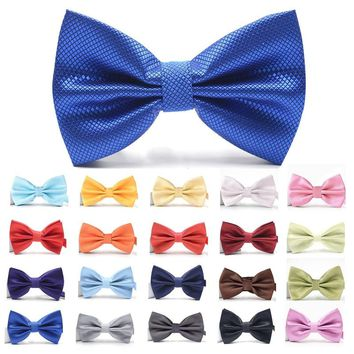 Men Accessories krawatte Grid Bowtie Men Women Banquet Wedding Party Groom bow tie Butterfly Knot Black Green White Mens Bowties