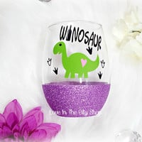 Winosaur Wine Glass