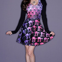 Custom Star Wars Pink and Purple Cosmos AT-AT A-Line Dress
