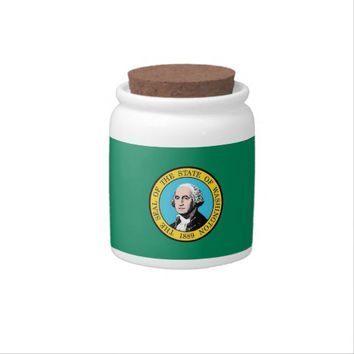 Washington State Flag Candy Jar