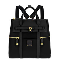 Jetsetter Convertible Backpack – Black | Henri Bendel