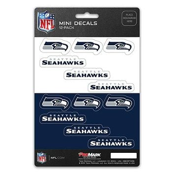 Seattle Seahawks Decal Set Mini 12 Pack