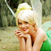 TINKERBELL inspired adult costume Couture Princess Wig
