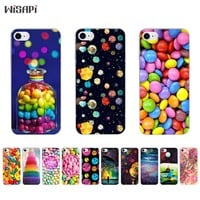 Silicone Case For iPhone 7 7plus 8 Shell for iPhone 5s 5c SE 6 6s 6plus Case TPU Bumper Phone Case Transparent Rainbow Candy