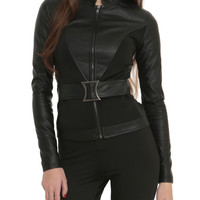 Marvel By Her Universe Black Widow Girls Belted Jacket