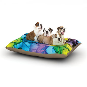 """Claire Day """"Mermaids"""" Blue Paint Dog Bed"""