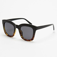 With Love From CA Two-Tone Oversized Wayfarer Sunglasses - Womens Sunglasses - Black - One