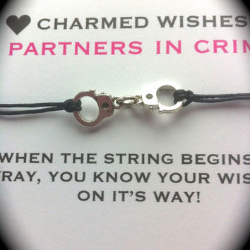 Partners in crime handcuff Bracelet | Best friends bracelet | Wish bracelet | BFF jewellery | BFF gifts | Friendship bracelet | Friends gift