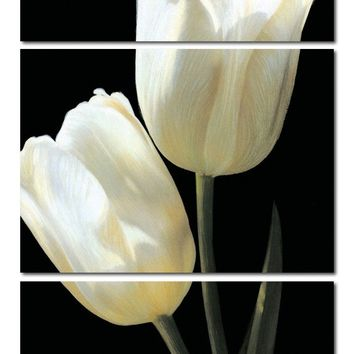 (No Frame)Picture beautiful tulip flower 3 Panels/Set HD Canvas Print Painting Artwork, Wall Art Picture canvas print