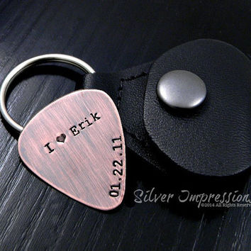 Personalized Copper Guitar Pick / Rustic PIck / Music Lover's Gift