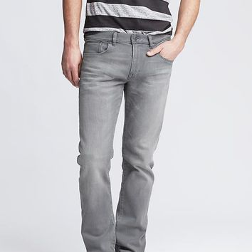 Banana Republic Mens Light Gray Slim Traveler Jean