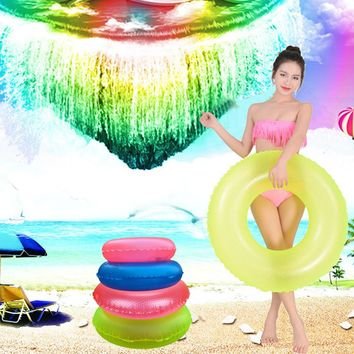 MUQGEW Inflatable High Quality float fun pool swimming ring inflatable swimming float Pool lifesaving ring for adult child #ES