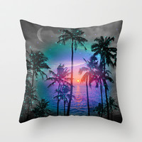 Run Away In Your Dreams (Palm Tree Paradise) Throw Pillow by soaring anchor designs ⚓ | Society6